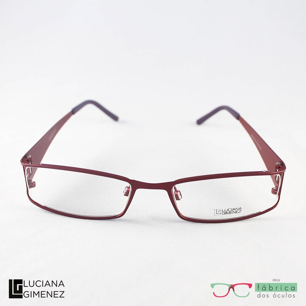 3093c6807e164 Armação Óculos Luciana Gimenez LG3030 B15 - Fábrica dos Óculos